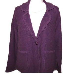 •Pendleton• Sz XL Petite Lambswool Cardigan Purple
